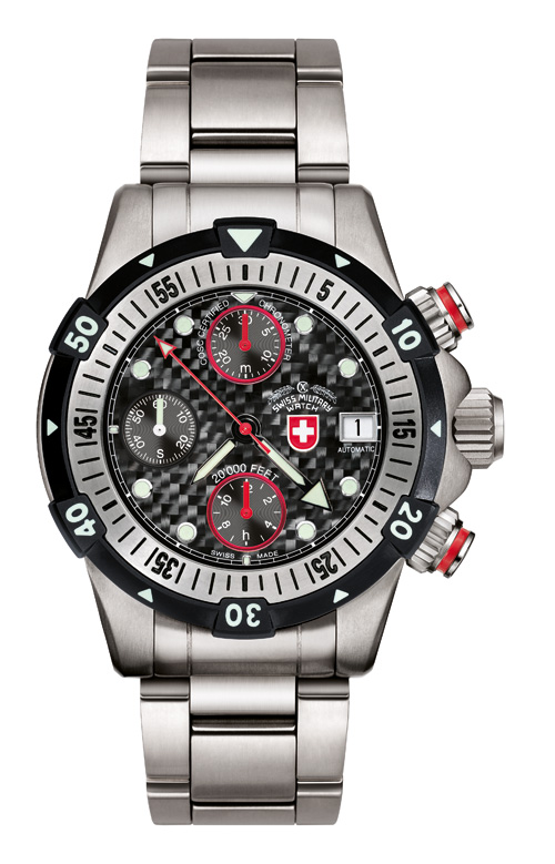 20'000 FEET CX Swiss Military Dial Black