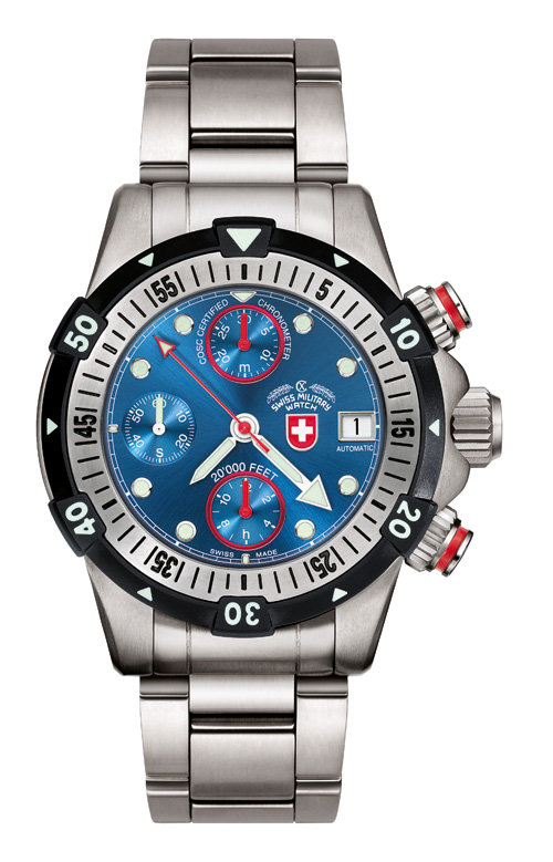20'000 FEET CX Swiss Military Dial Blue
