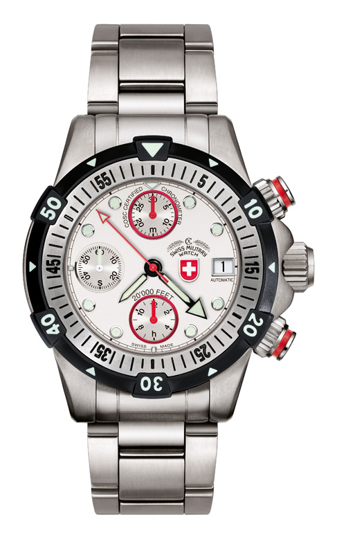 20'000 FEET CX Swiss Military Dial White