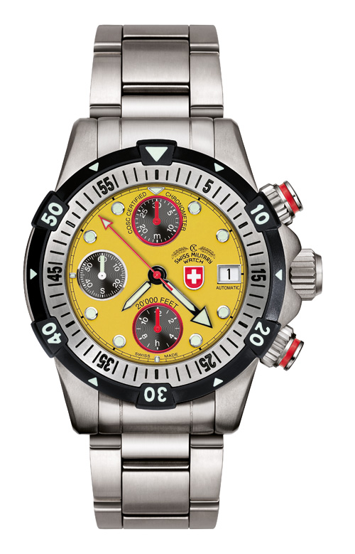 20'000 FEET CX Swiss Military Dial Yellow