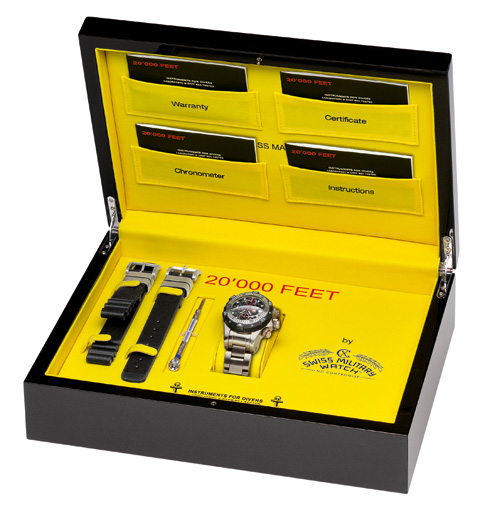20'000 FEET CX Swiss Military Watch Box